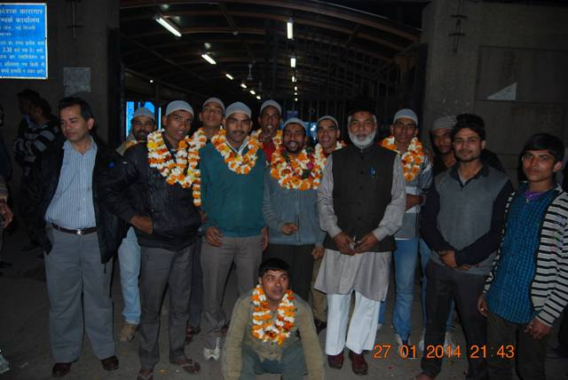 shia youth arrested at the behest of wakf land mafia ahmed patel coming out of tihar jail in jan. 2012. .jpg